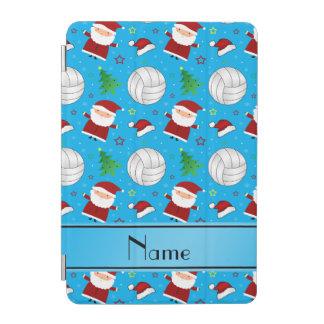 Custom name sky blue volleyball christmas pattern iPad mini cover