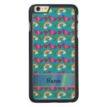 Custom name sky blue watermelons rainbows hearts carved® maple iPhone 6 plus slim case