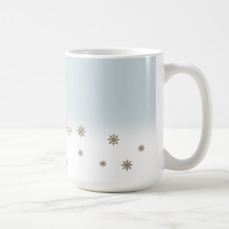 Custom Name Snowflake Design Christmas Gift Mugs