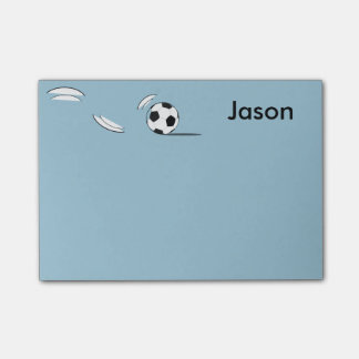 Custom Name Soccer Ball Post-it-Notes Post-it Notes