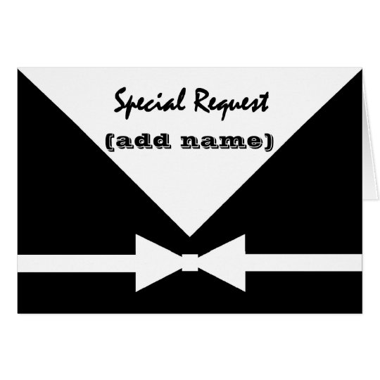 CUSTOM NAME Special Request - Be My Groomsman Card