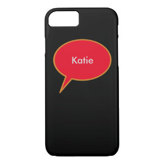 custom name speech balloon iPhone 7 case
