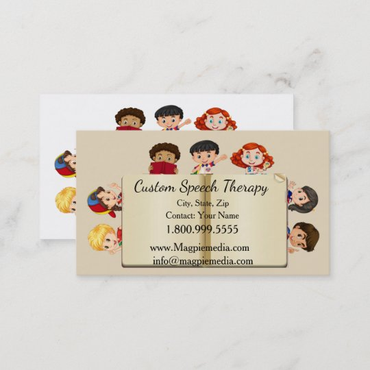 Custom name speech therapy kids cartoon business card zazzle custom name speech therapy kids cartoon business card colourmoves
