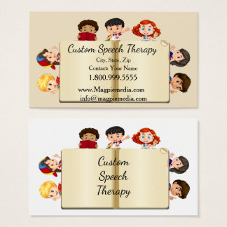 Custom Name Speech Therapy Kids Cartoon Business Card