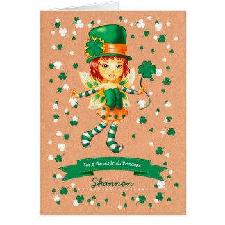 Custom Name St. Patrick's Day Fun Greeting Cards