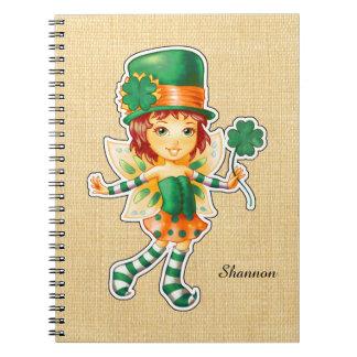 Custom Name St. Patrick's Day Fun Notebook
