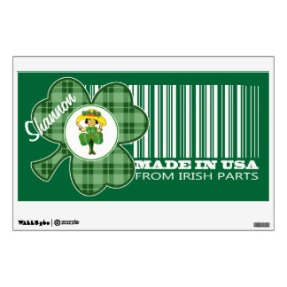 Custom Name. St. Patrick's Day Gift Wall Decals