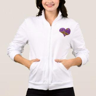 Custom name steampunk indigo purple glitter jackets