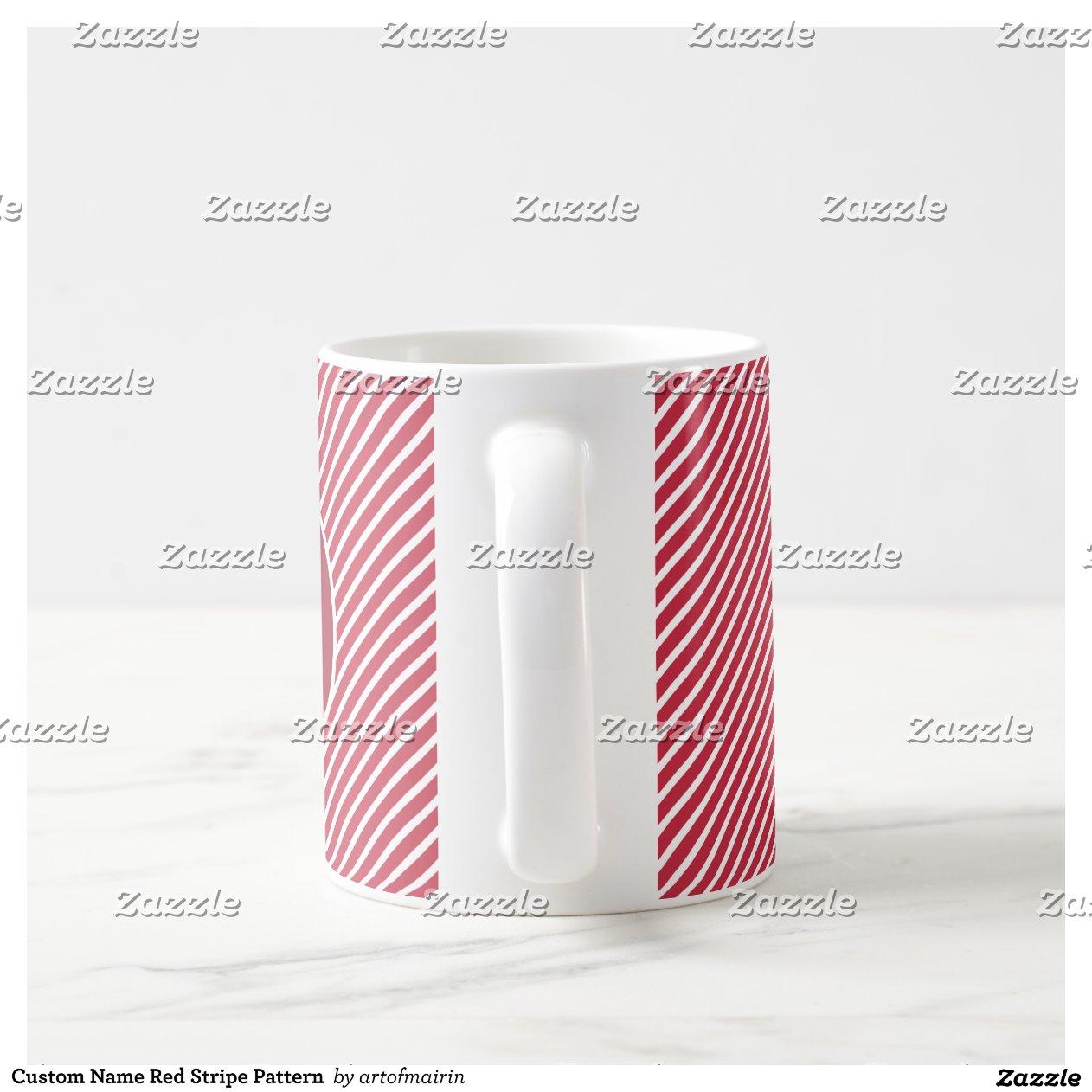 Custom Name Stripe Pattern
