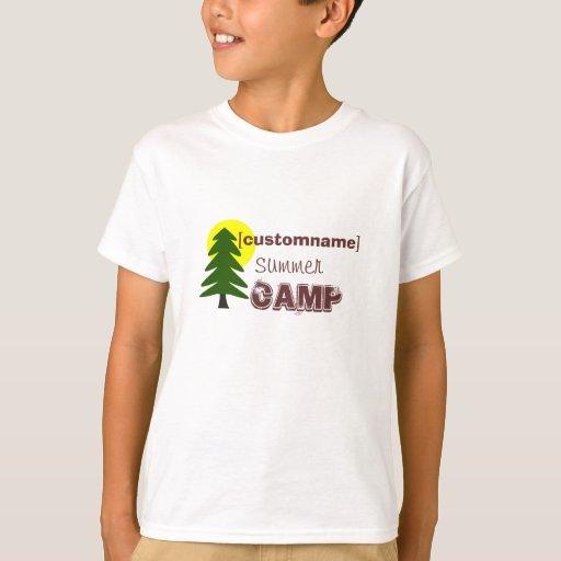 custom name summer camp t shirt zazzle
