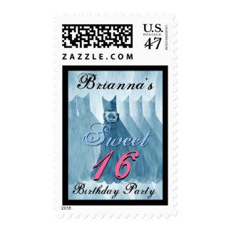 CUSTOM NAME Sweet 16 Birthday BLUE Dresses Postage