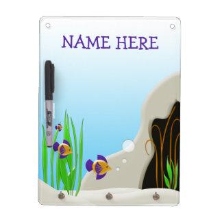 Custom Name Swimming Fish Scene Dry-Erase Board