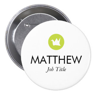 Custom Name Tag Pinback Button