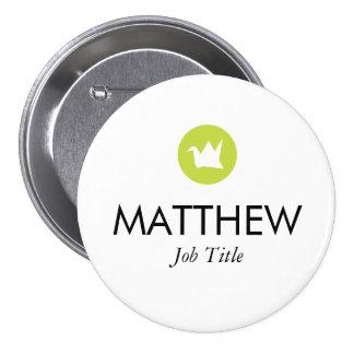 Custom Name Tag Pinback Button