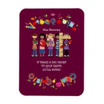 Custom Name Teacher Appreciation Gift Magnets