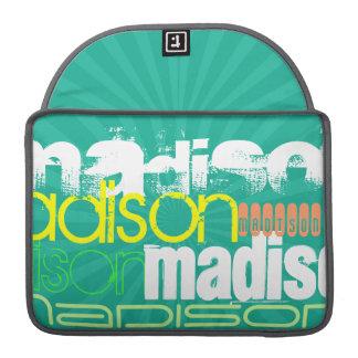 Custom Name Teal Green MacBook Pro Sleeve