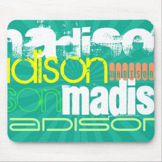 Custom Name Teal Green Mouse Pad