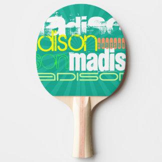 Custom Name Teal Green Ping-Pong Paddle