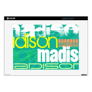 Custom Name Teal Green Decals For Laptops