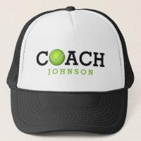 Custom Name Tennis Coach Trucker Hat