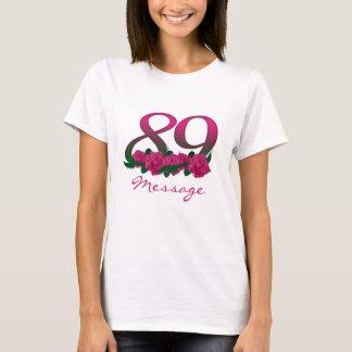 Custom name text 89 pink flowers T-Shirt
