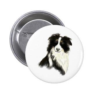 Custom Name text Border Collie Dog Pet Button