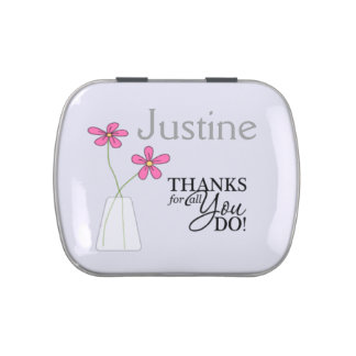 Custom Name Thanks for all You Do! Candy Tins