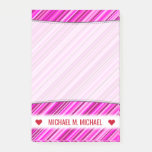 [ Thumbnail: Custom Name; Thin Pink & Magenta Lines Pattern Notes ]