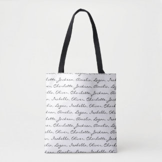 Custom Name Tote Bag