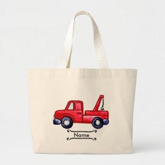 Custom Name Tow Truck Large Tote Bag