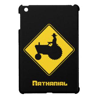 Custom Name Tractor Road Sign iPad Mini Case