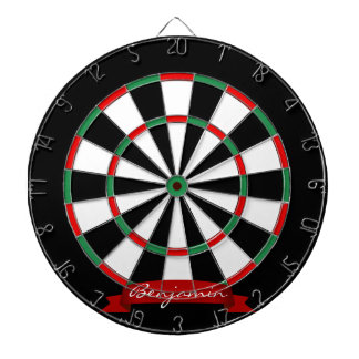 Custom Name Traditional Dartboard with Darts