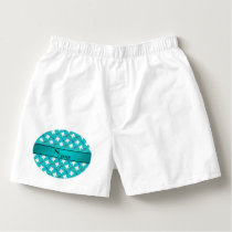Custom name turquoise brushes and tooth pattern boxers