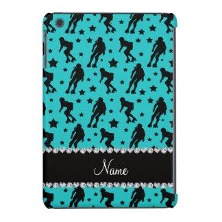 Custom name turquoise roller derby stars iPad mini cases