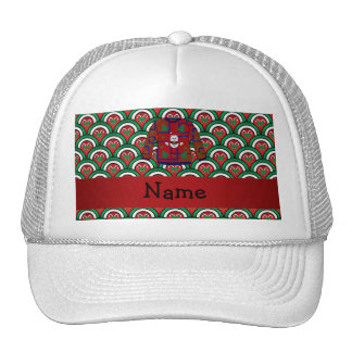 Custom name ugly christmas sweater candy canes hats