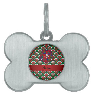 Custom name ugly christmas sweater candy canes pet tags