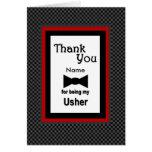 CUSTOM NAME - USHER Wedding Thank You Cards