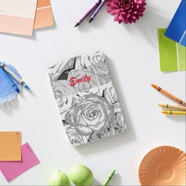 Custom name vintage flowers iPad mini cover