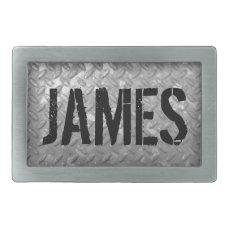 Custom name vintage steel plate metal belt buckles