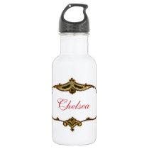 Custom Name Vintage Victorian Liberty Stainless Steel Water Bottle