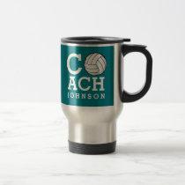 Custom Name Volleyball Coach Travel Mug
