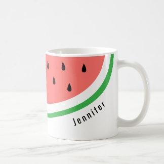 custom name watermelon slice coffee mug