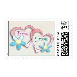 Custom Name Wedding Bride / Groom Stamp