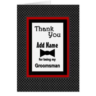 Custom Name Wedding Groomsman Thank You Card