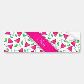 Custom name white pink cosmos limes bumper sticker