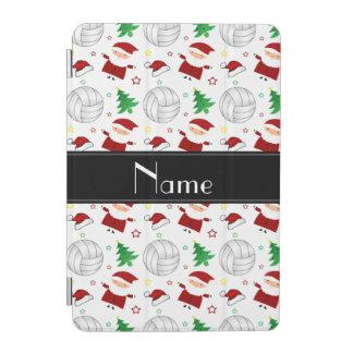Custom name white volleyball christmas pattern iPad mini cover