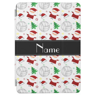 Custom name white volleyball christmas pattern iPad air cover
