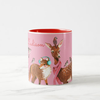 Custom Name | Winter Animals | Mug
