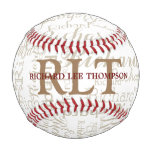 custom name with initials personalized monogram baseball