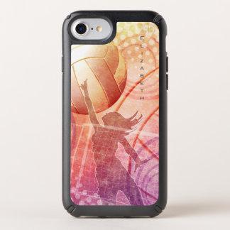 custom name women's sunset beach volleyball speck iPhone case